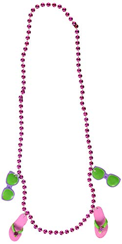 (Beads w/Flip Flop Medallions Party Accessory (1 count) (1/Card))