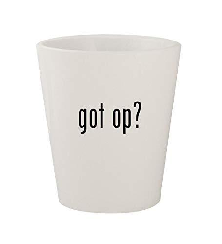 got op? - Ceramic White 1.5oz Shot Glass
