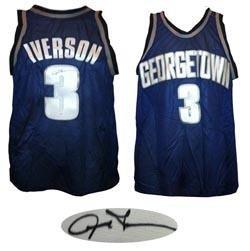 designer fashion 510b3 3642b Signed Allen Iverson Jersey - Georgetown Hoyas JSA COA ...