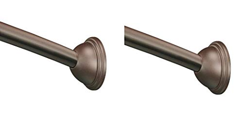 Moen CSR2160OWB 54-Inch to 72-Inch Adjustable Length Fixed Mount Single Curved Shower Rod, Old World Bronze (Pack of 2)