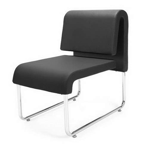 Campton Uno Series Black Anti-Microbial Anti-Bacterial Office Reception Lounge Chair | Model LNGCHR - 314
