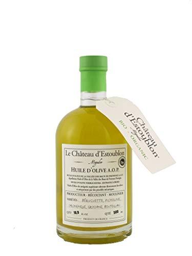 - Le Chateau d'Estoublon Organic AOP Valle des Baux de Provence | Premium French Extra Virgin Olive Oil from Provence | 2018 Harvest | Varietal Blend | 500 Liter (16.9 Ounce)