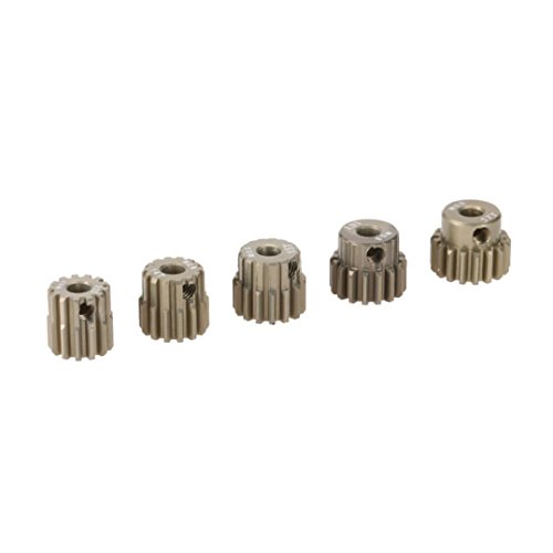 Dreamyth GoolRC M0.6 3.175mm 13T 14T 15T 16T 17T 0.6 Module Pinion Motor Gear for 1/8 1/10 RC Off-road Buggy Monster Truck Brushed Brushless Motor (Silver) 1/8 Off Road Truck