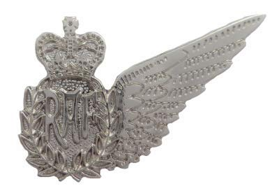 1000 Flags Limited Weapon Systems Officer Royal Air Force RAF MOD Single Wing Pin Badge Brevet ()