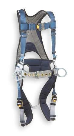DBI/SALA 1108500 Small Exofit Construction Vest Style Harness with Back D-Ring, Sewn-in Back Pad and Belt with Side D-Rings and Quick-Connect Buckles, English, 15.34 fl. oz, Plastic, 1