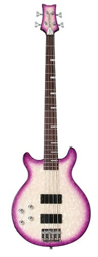Daisy Rock Elite Bass Left-Handed Guitar, Violet Burst