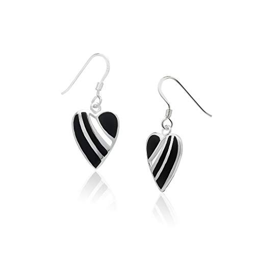 Gold Leverback Earrings Fill - Big Apple Hoops - Genuine 925 Sterling Silver ''Fill My Heart'' Cute & Comfort Dangle Hook Earrings Dainty, Delicate and Perfect Design | in 4 Inlay Selection