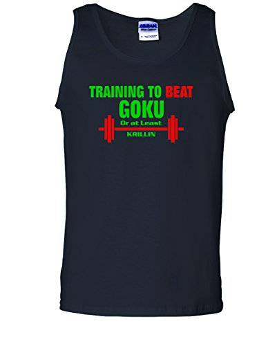 Men's Training To Beat Goku Or At Least Krillin. T-Shirt-Black-Small