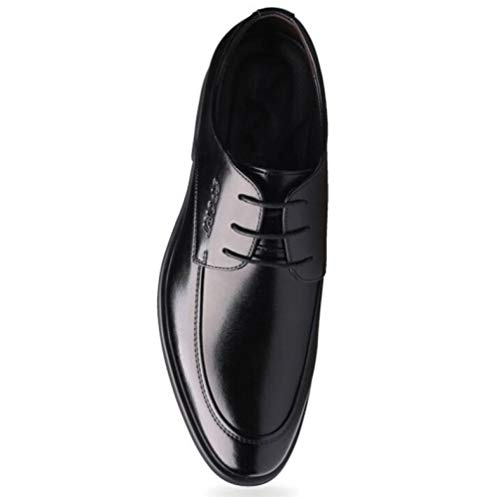 Lederschuhe Kleid Casual Karriere Hochzeit 6cm Shiney Increase Herren Kleid Business Büro Black Invisible Afxn5w