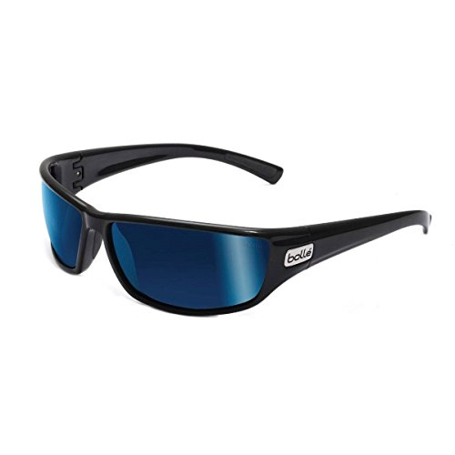 Bolle Python Sunglasses Shiny Black, Blue (Saddle Python)
