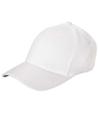Flexfit 6577CD Athletic Cool and Dry Pique Mesh Cap - OSFA (White)