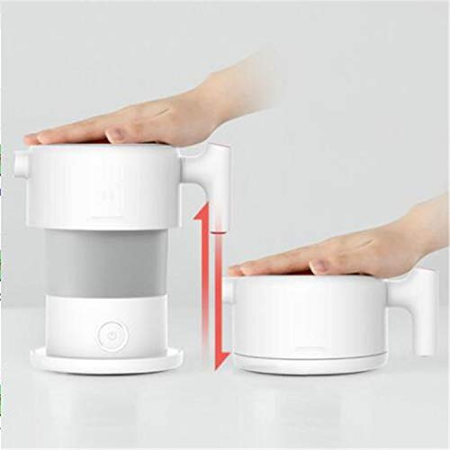 (BABIFIS 0.6L Folding Portable Water Kettle for Home Travel Mini Handheld Electric Water Automatic Power Off Kettle)