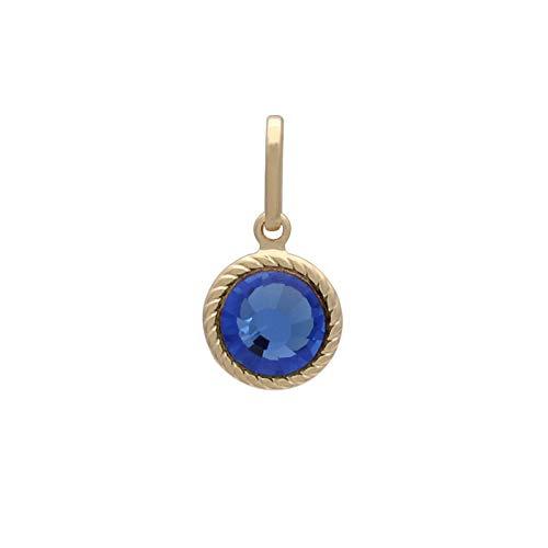 Pingente com pedra chaton azul