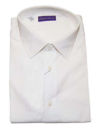 [Polo Ralph Lauren Purple Label Mens Italy Cotton Dress Shirt White 17.5] (Italy Cotton Dress)