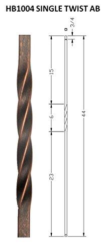 Antique Bronze(AB) 1/2