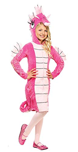 Sea Horse Costume for Girls, Deluxe Kids Halloween Animal Cosplay Outfit (Tag -