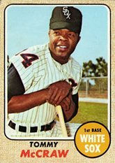 1968 Topps Regular (Baseball) Card# 413 Tommy McCraw of the Chicago White Sox Ex Condition - 1968 Chicago White Sox