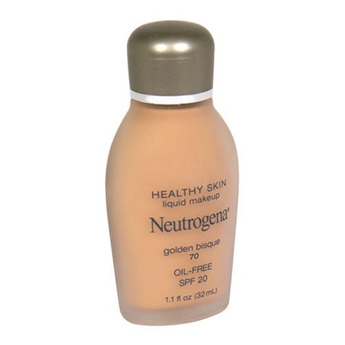 Neutrogena Healthy Skin Liquid Makeup, SPF 20, Golden Bisque 70, 1.1 Fluid Ounce (32 ml)