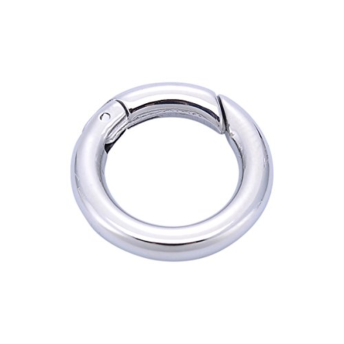 Stainless Steel Round Necklace Enhancer Shortener Ring Spring Clasp Connector 20mm