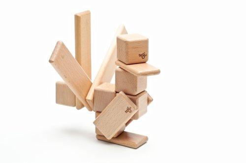 52 Piece Tegu Original Magnetic Wooden Block Set, Natural by Tegu (Image #3)