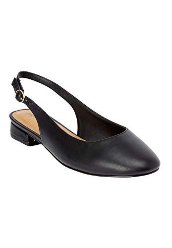 Comfortview Women's Plus Size The Florence Slingback Pump - Black, 9 M