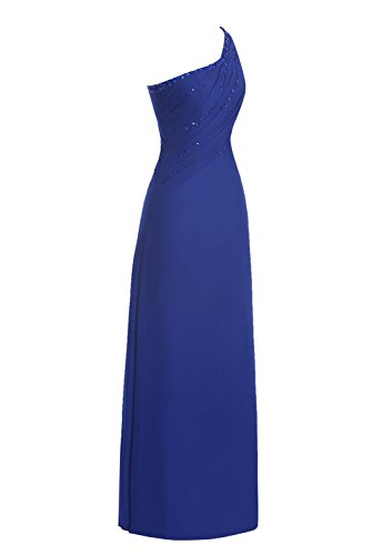 Evening Party One Gown Shoulder Women's Prom Dasior Long Dress Ocean Blue X50FUqxwn