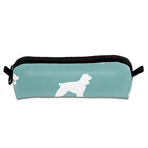 Pencil Case Cocker Spaniel Silhouette Dog Breeds Gulf_225 Unisex Student Zipper Polyester Pen Box Stationery Bag Lightweight Storage Bags