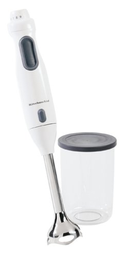 KitchenAid KHB100WH Immersion Hand Blender, White