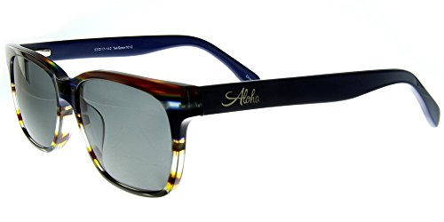 Aloha Eyewear Tek Spex 1012 Unisex RX-Able Reader Sunglasses with Progressive Polarized Lens (Blue - Prescription Sunglasses Transition Non