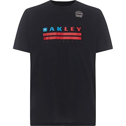 Oakley Mens Men's Oakley California TEE, Blackout, M (Oakley Special Edition)