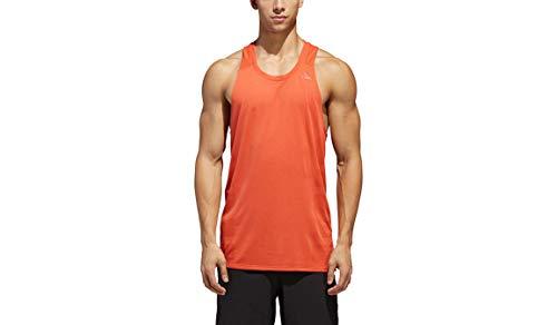 Mens Sleeveless Athletic Singlet - adidas Running Supernova Singlet, Raw Amber, Large