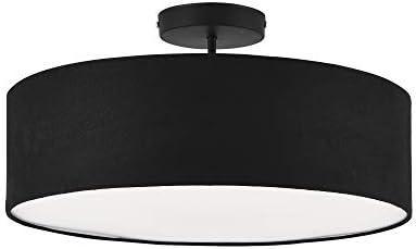 lux.pro] Suspension Luminaire Suspendue Plafonnier Noir et Blanc 3 x E27 Plastique Organza Diamètre 45 cm