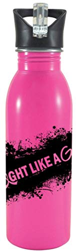 Fight Like a Girl Stainless Steel Sports Bottle