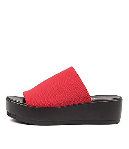 I LOVE BILLY Kiara Womens Heels Womens Shoes RED FABRIC