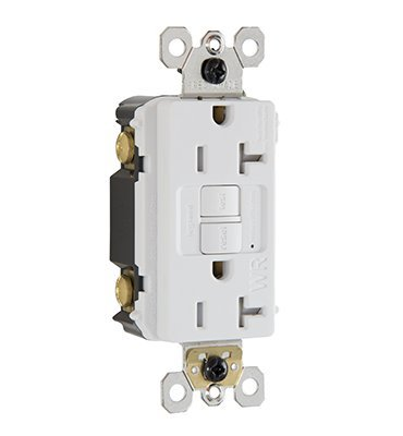Legrand - Pass & Seymour radiant 2097TRWRWCC4 20 Amp Tamper-Resistant/Weather-Resistant Self-Test GFCI Safety Outlet, White ()