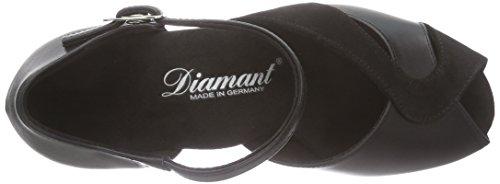 Diamant Damen Tanzschuhe 011-011-070, Women's Ballroom Dance Shoes Black (Schwarz)