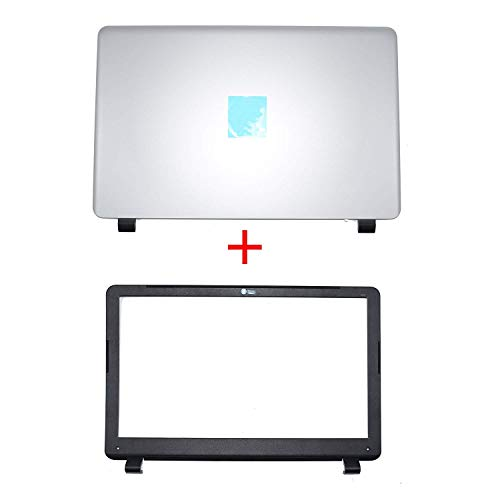 (Compatible Replacement for HP 350 G1 LCD Rear Cover Screen Lid Top Shell & Front Frame LCD Bezel with Camera Hole 758057-001)