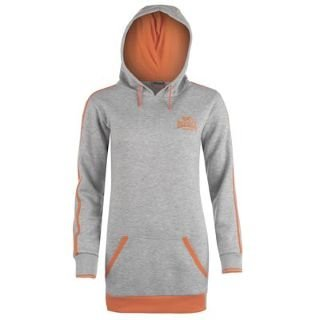 Image Unavailable. Image not available for. Colour  Lonsdale Long Length Hoody  Ladies Grey Marl Coral ... 799f9e75388