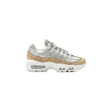 Nike Womens Air Max 95 SE PRM Running Trainers AH8697 Sneakers Shoes (UK 7.5 US 10 EU 42, Pure Platinum Metallic Silver 002)