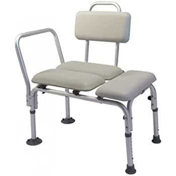 Amazon Com Lumex 7956a Padded Commode Transfer Bench With