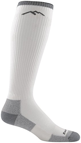 Darn Tough Men's Merino Wool Westerner Over-The-Calf Light Cushion Socks - White, Large