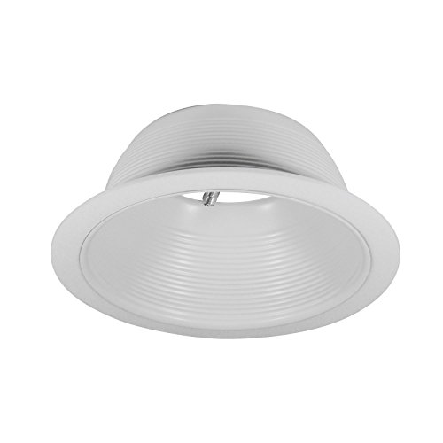Pack of 24-6'' White Baffle Trim with White Ring for 6'' Recessed Can Lighting - Replaces BR30/PAR30/R30 by Four-Bros Lighting (Image #1)