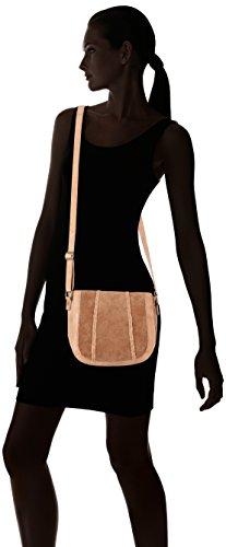 PIECES Damen Pccameo Leather Cross Over Bag Schultertasche, 6x20x22 cm Braun (Nature)