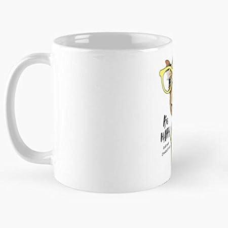 Yellow Llma Drink Happy Smoothie Alcapas Color Saying Best Taza de café de cerámica de 325 ml