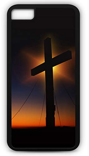 iPhone 6 Plus 6+ Case Cross Sunset Humility Devotion Silhouette God Jesus Bible Religion Customizable by TYD Designs in Black Plastic Black Rubber Tough Case