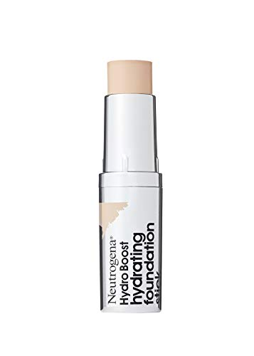 Neutrogena Hydro Boost Hydrating Foundation Stick with Hyaluronic Acid, Oil-Free & Non-Comedogenic Moisturizing Makeup for Smooth Coverage & Radiant-Looking Skin, Natural Ivory, 0.29 oz