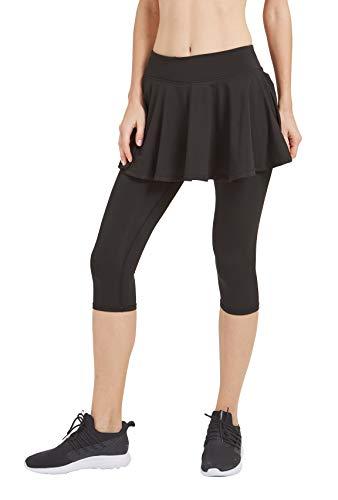 - Women Skirt Leggings with Built-in Shorts Black L