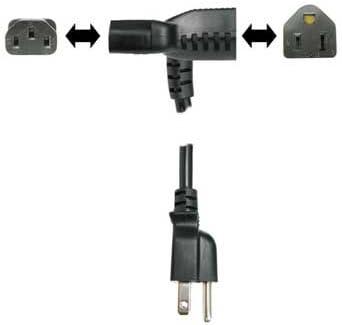 2 ft Hosa PWD-402 Power Cord Piggy Back IEC C13 to NEMA 5-15P Cable