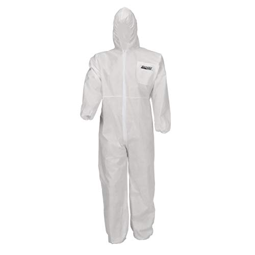 Seachoice 93131 SMS Disposable Protective Breathable Coveralls with Hood, XX-Large