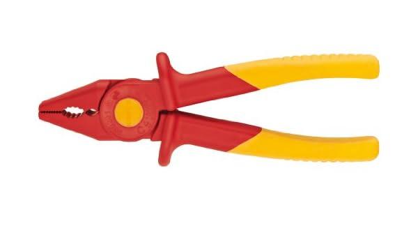 Knipex herramientas 98 62 01 alicates de punta de plástico alicates 1000 V aislante, rojo/amarillo: Amazon.es: Bricolaje y herramientas
